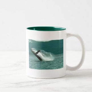 Glacier Bay Alaska whale, mug