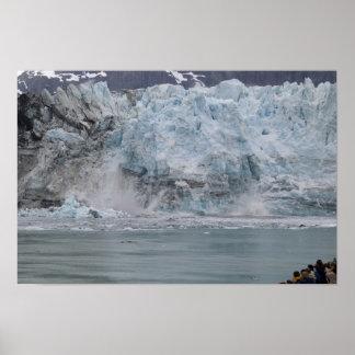 Glacier Bay Calving Poster