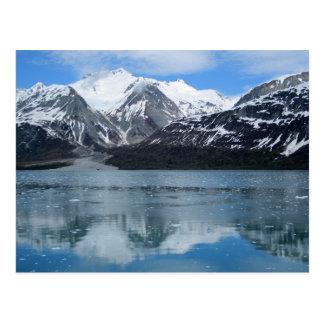 Glacier Bay con la reflexión Postal