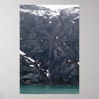 Glacier Bay Waterfall 3 Poster