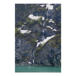 Glacier Bay Waterfall Poster print