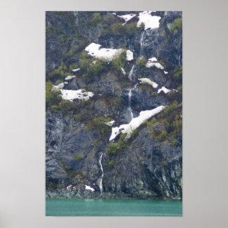 Glacier Bay Waterfall Poster