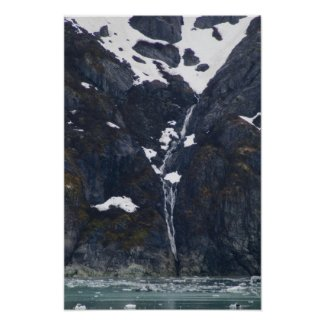 Glacier Bay Waterfall Poster 2 print