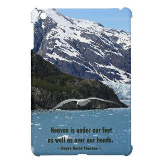 Glacier Bay with Bird / Thoreau quote iPad Mini Cover