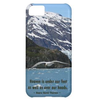 Glacier Bay with Bird / Thoreau quote iPhone 5C Cover