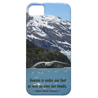 Glacier Bay with Bird /  Thoreau quote iPhone SE/5/5s Case