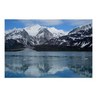 Glacier Bay with reflection Poster