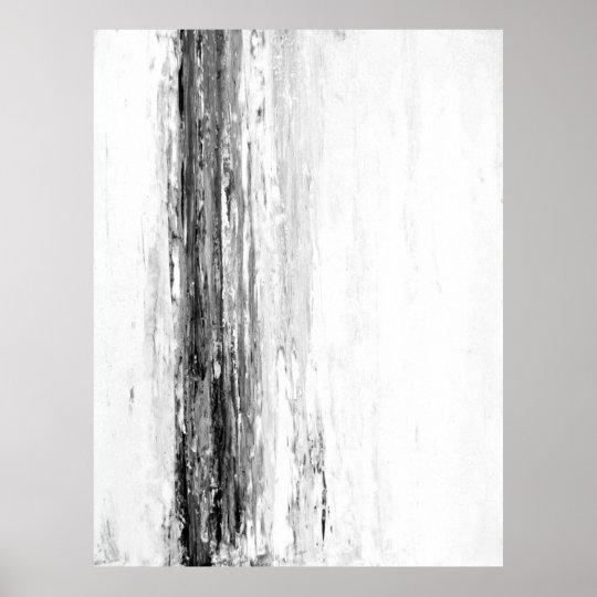 39 glacier 39 black and white abstract art poster. Black Bedroom Furniture Sets. Home Design Ideas