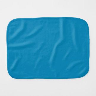 GLACIER BLUE (a cool solid color) ~ Baby Burp Cloth