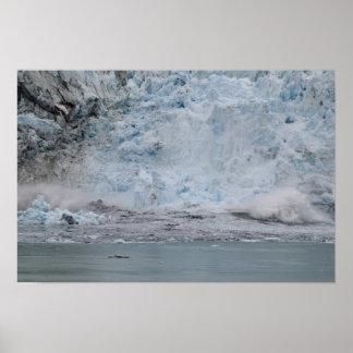 Glacier Calving 2 Poster