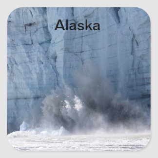 Glacier calving in Alaska Square Sticker