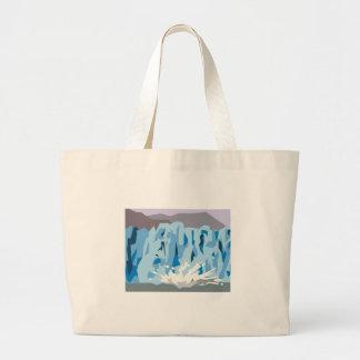 Glacier Calving Large Tote Bag