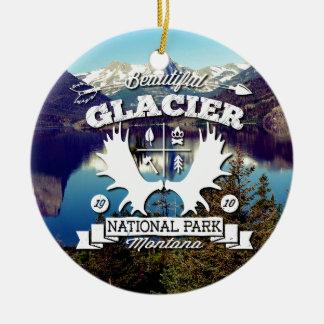 Glacier Camper Ceramic Ornament