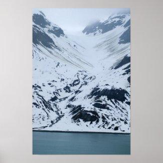 Glacier Carving Poster print