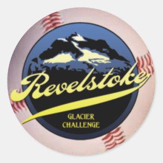Glacier Challenge Classic Round Sticker