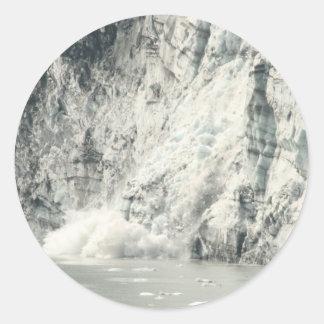 Glacier Classic Round Sticker