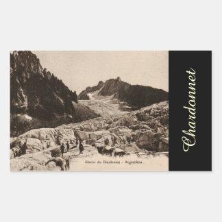 Glacier de Chardonnet - Argentiéres Haute Saboya Pegatina Rectangular