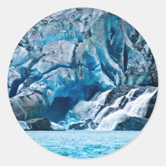 Glacier Falls Classic Round Sticker