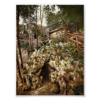 Glacier garden, the grotto and club house, Lucerne Poster