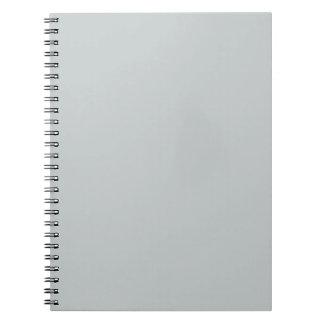 Glacier Gray Grey Trend Color Background Notebook