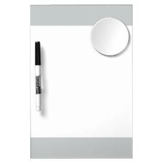 Glacier Gray High End Solid Color Dry Erase Board With Mirror