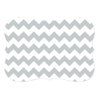 Glacier Gray White Chevron Pattern Card
