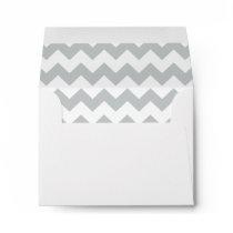 Glacier Gray White Chevron Pattern Envelope