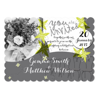 Glacier Grey Wedding Invitation