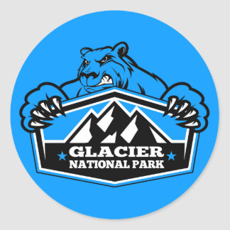 Glacier Ice Bear Classic Round Sticker