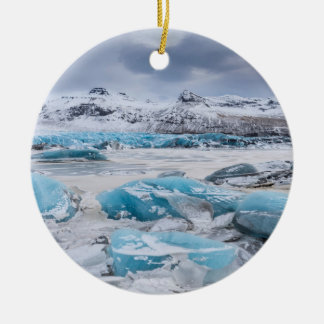 Glacier Ice landscape, Iceland Ceramic Ornament