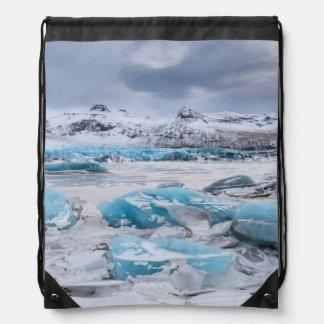 Glacier Ice landscape, Iceland Drawstring Bag