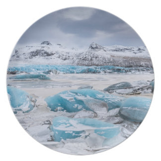 Glacier Ice landscape, Iceland Melamine Plate
