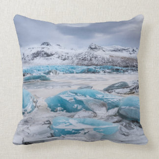 Glacier Ice landscape, Iceland Throw Pillow