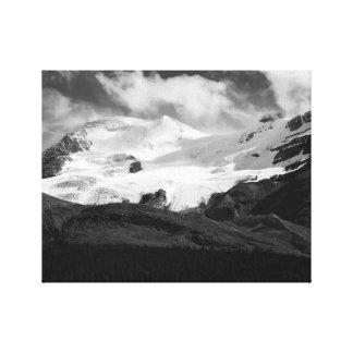 Glacier in Black and White Canvas Prints