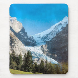 Glacier in summer mouse pad