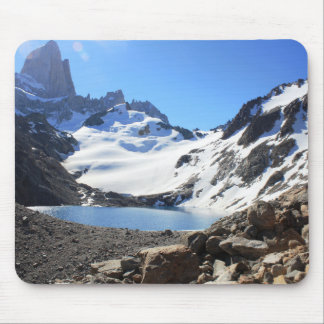 Glacier Lake Near Mount Fitz Roy Mouse Pad