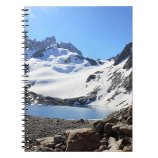 Glacier Lake Near Mount Fitz Roy Spiral Notebook