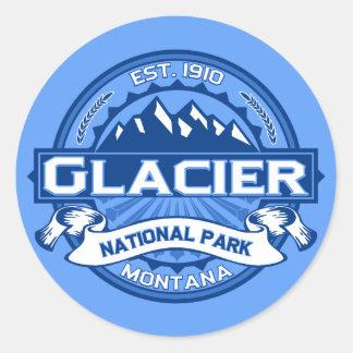 Glacier Logo Cobalt Classic Round Sticker
