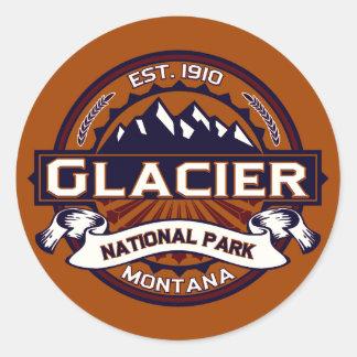Glacier Logo Vibrant Classic Round Sticker