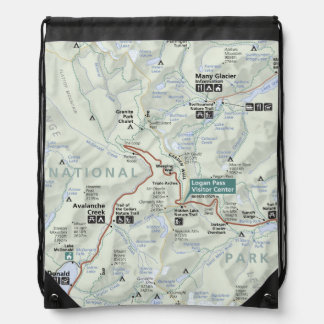 Glacier (Montana) map backpack