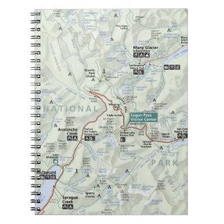 Glacier (Montana) map notebook