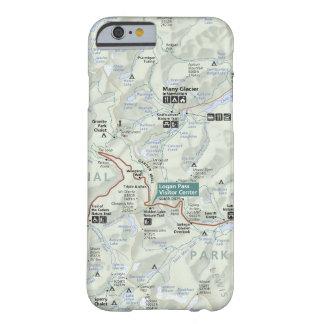 Glacier (Montana) map phone case