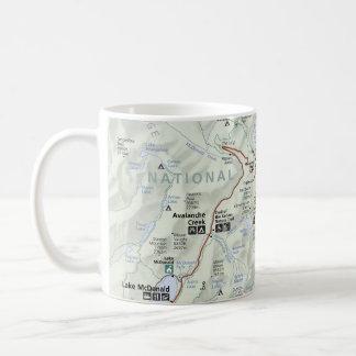 Glacier (Montana) map poster Coffee Mug