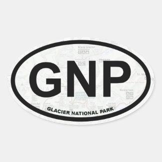 Glacier (Montana) map sticker - black text