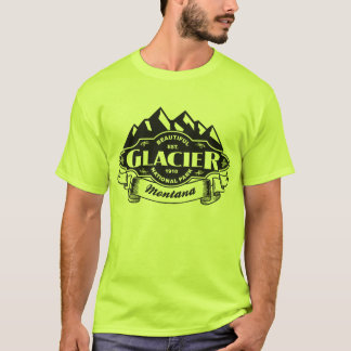 Glacier Mountain Emblem Black T-Shirt