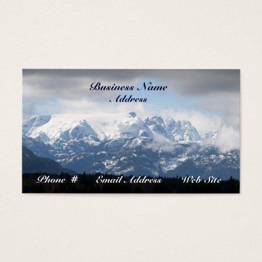 Glacier Mountain Snow Scenic Business Cards
