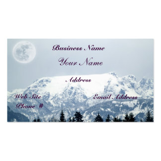 Glacier Mountains Scenic Beauty Business Cards