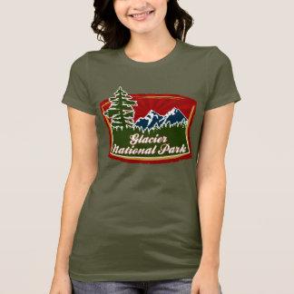 Glacier Mountains Trees Logo T-Shirt