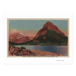 Glacier, MT - View of Grinnell Mt. & Swiftcurren Postcard