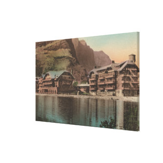 Glacier, MT - View of the Many Glacier Hotel Canvas Print